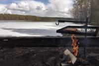 Elamonjärven laavun nuotiopaikka